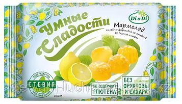 """Безглютеновый Мармелад """"Умные Сладости"""" желейно-формовой со стевией, со вкусом лимона 200г"""