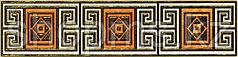 Керамическая плитка PiezaROSA Мармара бордюр 2 золот 273862(25*6)