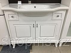 Мебель AQUARODOS Беатриче 100 белая патина хром - шкаф  с умыв.Yeni Klassik 081300  - 100 см