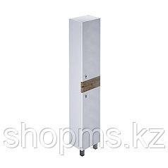 Пенал для ванной комнаты, напольный, белый/под дерево, 36 см, Carlow, IDDIS    ***