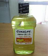 """Волшебная лимонная жидкость для рта -Ополаскиватель полости рта  """" Cokelife Orange Flavor"""" ЛИМОН"""