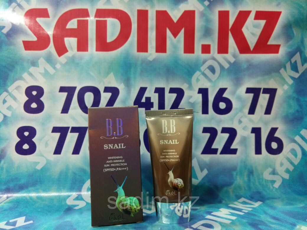Ekel Snail BB Cream SPF50+ PA+++ Тональный ББ-крем с экстрактом улиточного муцина
