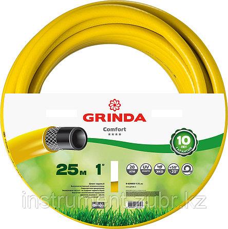 """Шланг GRINDA COMFORT поливочный, 20 атм., армированный, 3-х слойный, 1""""х25м, фото 2"""