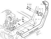 Шноркель для Nissan Patrol Y60