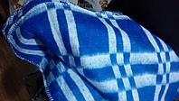 Одеяла полушерстяные в клетку 140*205 шерсть 50%
