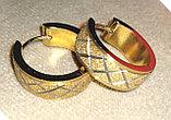 Серьги двусторонние '' Золотые кольца'' позолота, фото 2