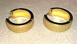 Серьги двусторонние '' Золотые кольца'' позолота, фото 6