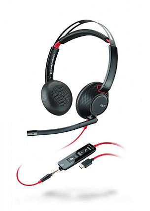 Гарнитура проводная Plantronics BLACKWIRE 225 stereo черный, фото 2