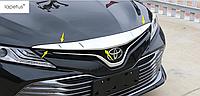 Хром накладка на вверхнию часть решетки Camry V70 (вар.2)