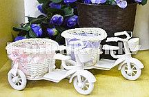 """Декоративная корзинка """"Велосипед"""" маленькая в ассортименте"""