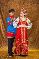 Мужской и женский русский народный костюм