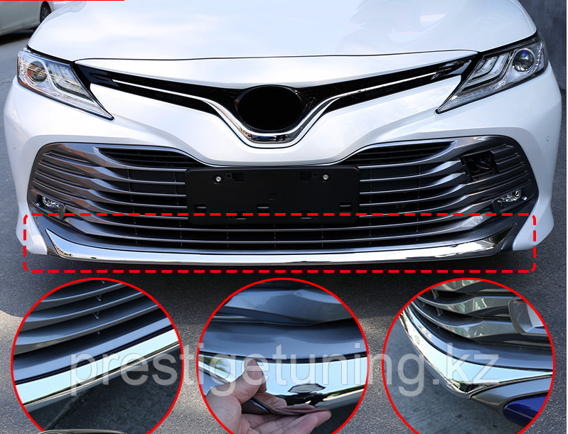 Хром накладка на губу Camry V70
