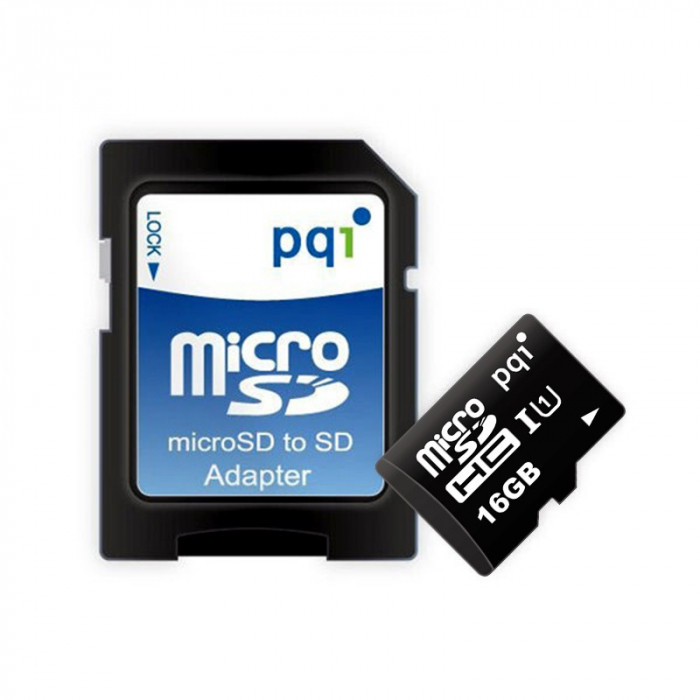 Карта памяти MicroSD 16GB Class 10 U1 PQI 6988-016GR116A