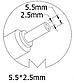 Блок питания для ноутбука Asus, 19V 3.42A, 65W, 5.5x2.5 mm, фото 3