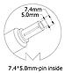 Блок питания для ноутбука HP, 19V 4.74A, 90W, 7.4x5.0 mm, фото 3
