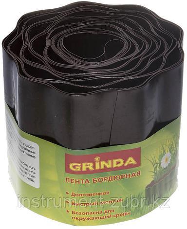 Лента бордюрная Grinda, цвет коричневый, 15смх9м, фото 2