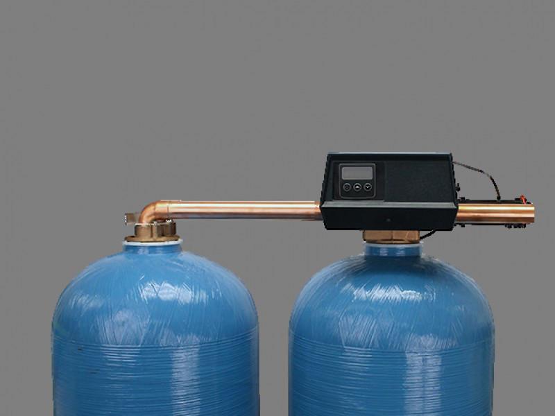 """Клапан управления на умягчение с электронным водосчетчиком duplex 1,5"""" Fleck 9500/1710SXT Eco1.5"""