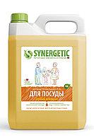 SYNERGETIC для мытья посуды, детских игрушек Апельсин (канистра 5л)