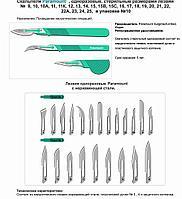 Скальпель хирургический Paramount® Ribbel стерильный, однократного применения, (Лезвие из нерж. стали)