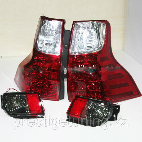 Задние фонари на Land Cruiser Prado 150 стиль GX Красные