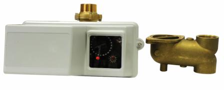 Блок управления на умягчением с водосчетчиком (гор. вода) Fleck 4600/1600/ECO/ 3/4 HW, фото 2
