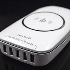 Беспроводная зарядка Bavin PC630 +5USB выходов 1,5м удл., 6A 30W
