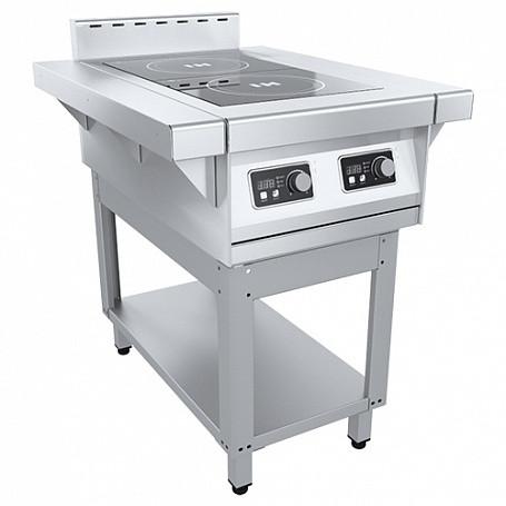 Плита индукционная ПЭИ-20-30-01, (465(675)х850х860(880)мм 2 конф., 6 кВт, 380В)