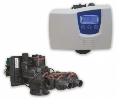 Блок управления на умягчение с водосчетчиком Fleck 7700/1600Std. Eco