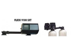 """Клапан управления на умягчение с электронным водосчетчиком Fleck 9100/SXT Eco 1"""" - duplex  1"""""""
