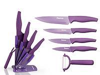 2673 FISSMAN Набор ножей 6 пр. FANTASIA с керамической Y-овощечисткой на акриловой подставке (нерж. сталь)