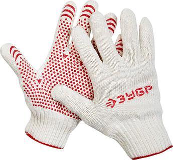 """(11456-XL) Перчатки ЗУБР """"МAСTEP"""" трикотажные, 7 класс, х/б, с защитой от скольжения, L-XL"""