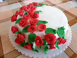 Цветы Розы из мастики!