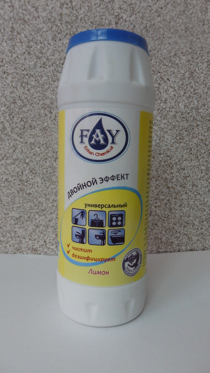 Чистящий порошок Fay с хлоринолом, банка 500 гр.