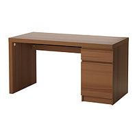 Письменный стол МАЛЬМ ясеневый шпон ИКЕА, IKEA, фото 1