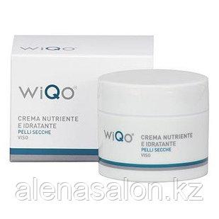 Увлажняющий восстанавливающий крем Crema Nutriente e Idratante Viso Pelli Secche WiQo, 50 мл
