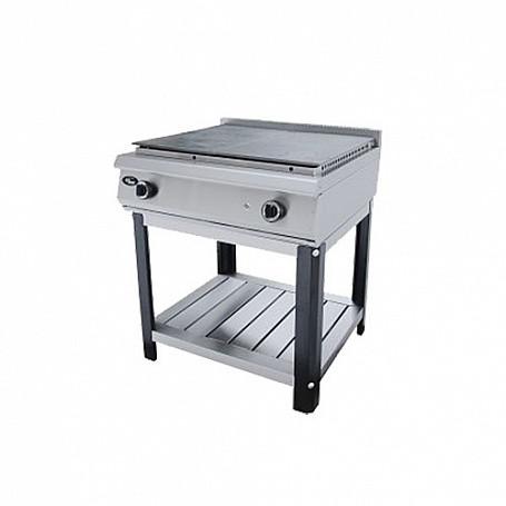 Плита газовая без духовки со сплошной поверхностью Ф4ЖТЛСПГ (п) (800х800х900 мм, 2 горелки, 220 В, 14,4 кВт, м