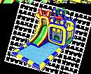 Батут с горкой и водным бассейном. НН.112, фото 2