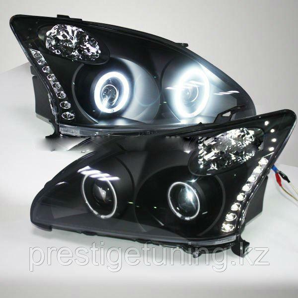 Передние фары Lexus RX330 RX300 R350 Angel Eyes 03 - 08 Black