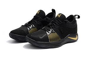 Баскетбольные кроссовки Nike PG2 from Paul George black\gold, фото 2