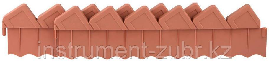 Ограждение GRINDA для клумб, цвет коричневый, 2 секции                                                                  , фото 2