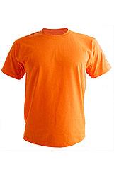 Трикотажный футболка оранжевый