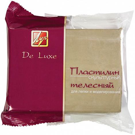 """Пластилин скульптурный Луч """"Люкс"""", телесный, твердый, 300г"""