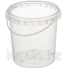 Ведро HTI 0,850 л. прозрачное 450 шт/кор
