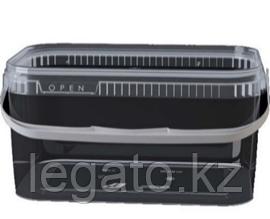 Контейнер 2,0л 191*129 прозрачный c крышкой прозрачный, ручка белая/Альянс