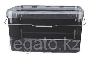 Контейнер 11л 366*243 прозрачный с крышкой прозрачной, ручка метал/Альянс