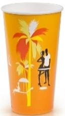 Стакан бум.д/хол.напитков 400мл.Пляж. 50шт/уп.1000шт/кор. Лига-Пак