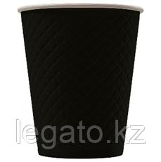 EM80-280 Стакан бумажный одноразовый двухслойный 250 мл. (, 5768, 0478 Waffle Black