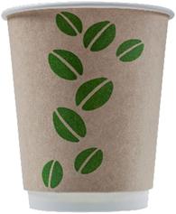 DW80-280 Стакан бумажный одноразовый двухслойный 250 мл. (DW175г/м2, 4457, 0322 Coffee