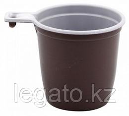 Чашка кофейная 200мл бело-коричневая (ИнтроПластик 1250)