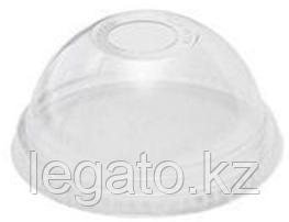 Крышка купольная с отверстием для стакана 200-500 мл РЕТ-шейкер D-95мм (50шт/20уп)/ПолиЭр
